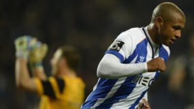 Brahimi celebra el gol del triunfo de Oporto sobre Vitoria Guimaraes.