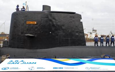 El ARA San Juan en el puerto de Buenos Aires.