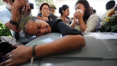 Funeral de una de las víctimas de la masacre de Tamaulipas.