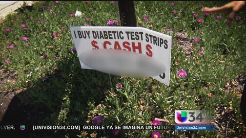 Mercado negro de tiras para diabetes en Los Angeles