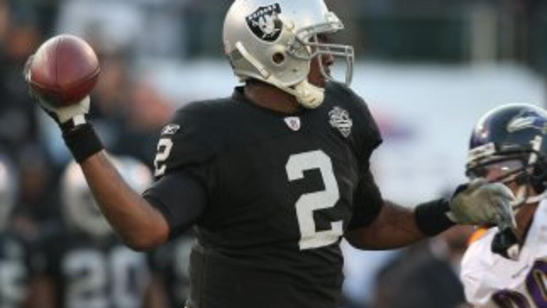 JaMarcus Russell tuvo un pésima estadía con los Raiders.