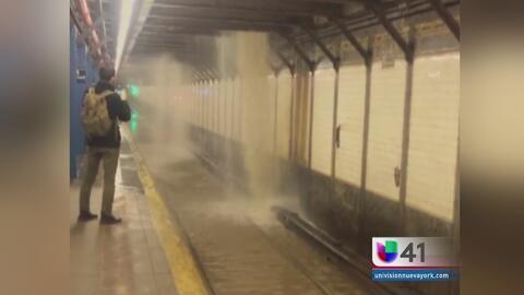 Tubería rota causa retrasos en metro de NY