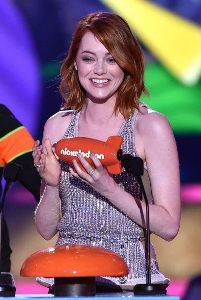 Emma Stone también fue de las ganadoras.