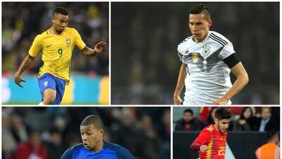 Draxler, Mbappé, Gabriel Jesús, Asensio y otros jóvenes que podrían despegar en Rusia 2018