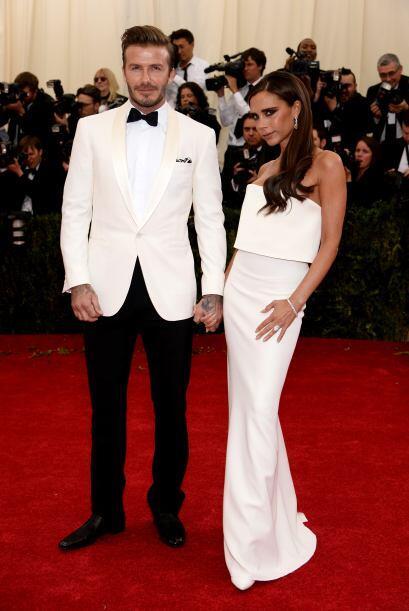 Pero si ella lució hermosa, ahora nada más vean al bombón de David Beckh...