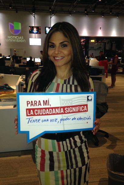 Talento y belleza unidos en Natalia Cruz de Primer Impacto quien habla d...