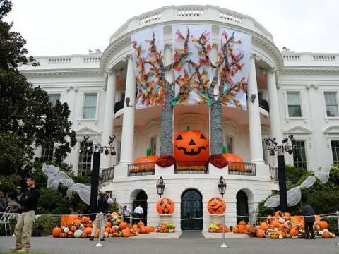 La Casa Blanca se vistió par celebrar una gran fiesta de Halloween.