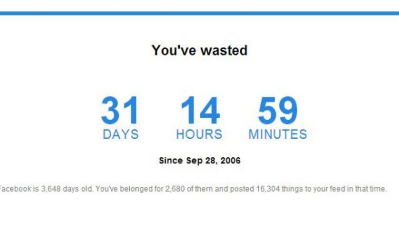 Una simple aplicación estima los días y hasta horas invertidos en la red...