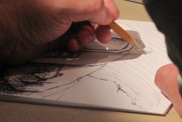 Con la técnica del lápiz, Dominguez recreó los principales momentos del...