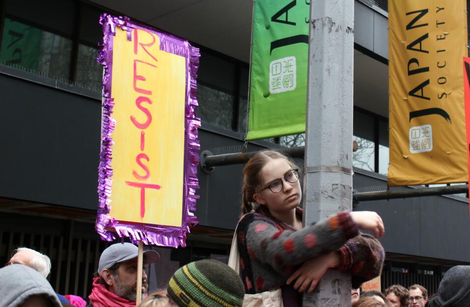 Muchos fueron a la marcha de las mujeres de Nueva York para mostrar su o...
