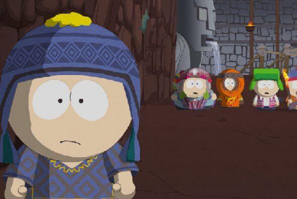 Stan de 'South Park', modelando el blanco con dorado.
