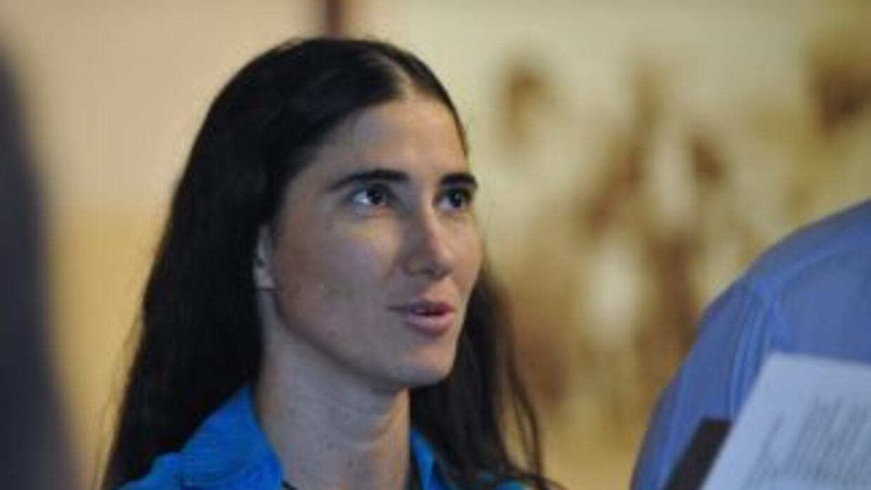La bloguera crítica Yoani Sánchez.