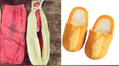 Pantuflas de bolillo y calcetines de tamal, el nuevo grito de la moda