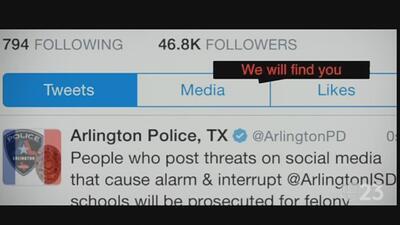 Autoridades de Arlington arrestan a estudiante tras publicar una amenaza en redes sociales