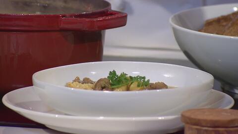 Sopa de Tortellini con Butifarras La Aguadillana