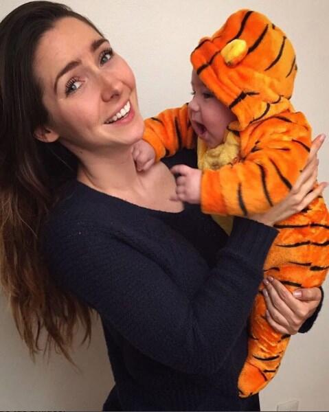 Ariadne Diaz con su hijo Diego
