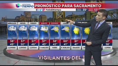 Fuertes tormentas se acercan a la región de Sacramento