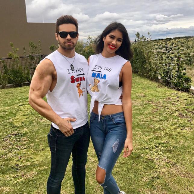 Eleazar Gómez y su novia Elia