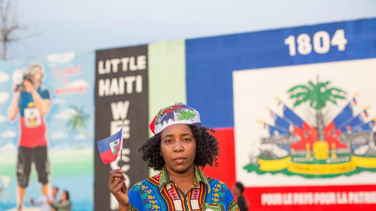 Saccha Etienne, 18, is an activist for the Haitian community in South Fl...