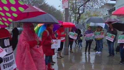 Participantes de la huelga de maestros en Los Ángeles denuncian presuntas amenazas en su contra