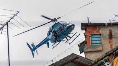 Un helicóptero de las fuerzas del orden venezolanas. (Imagen de A...