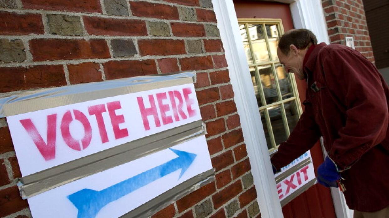 Centro de votación en Texas