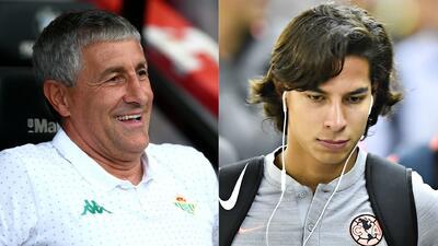 El técnico del Real Betis se refirió a la posible llegada de Diego Lainez
