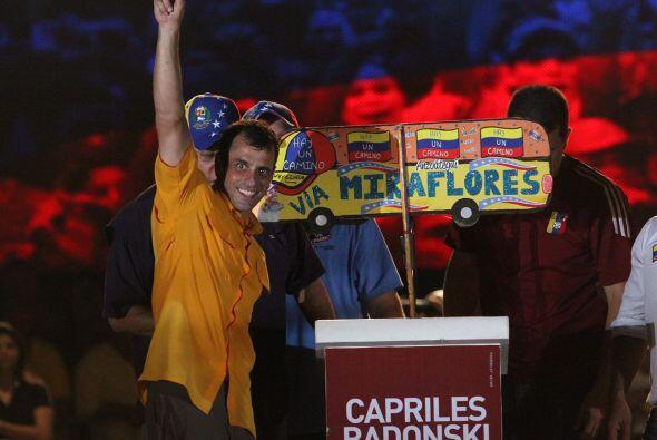 El cierre de campaña de Henrique Capriles en Barcelona, estado de Anzoat...