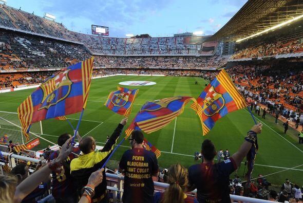 El estadio de Mestalla en Valencia fue la sede para disputar la final de...