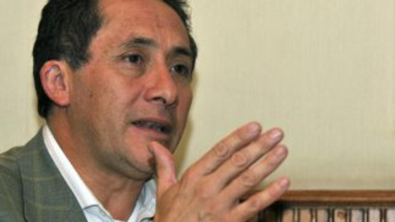 El ministro de Seguridad Interna y Externa de Ecuador, Miguel Carvajal,...