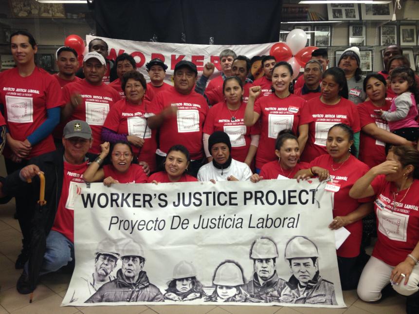 Los miembros del Proyecto de Justicia Laboral, en pie de lucha.
