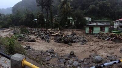 Estragos de Erika en Dominica