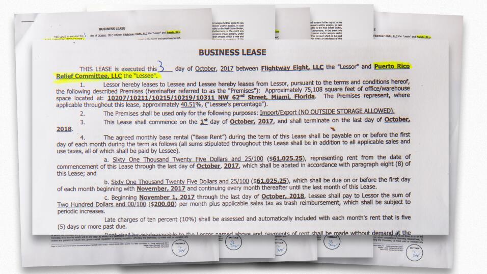 Univision Noticias 23 obtuvo la copia del contrato de renta por los alma...