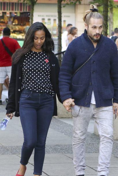 A pesar de tiempo de casados, Zoe Saldana y Marco Perego siguen con la l...