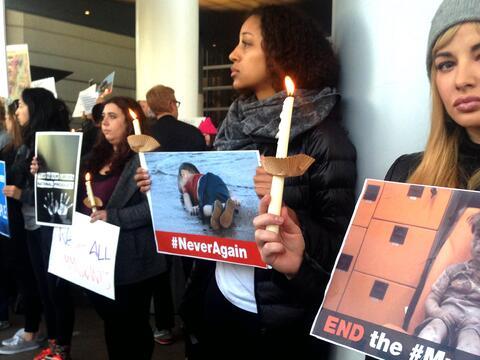Protesta LAX  veto de Trump a refugiados