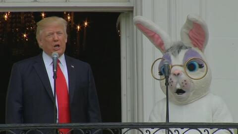 Trump habla de política en el tradicional mensaje de pascua