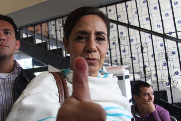 La candidata a la gubernatura de Michoacán por el Partido Acción Naciona...