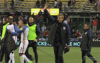 Mira como vivió Jurgen Klinsmann el partido contra Guatemala en Columbus...