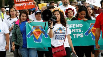 Marcha en defensa del Estatus de Protección Temporal (TPS).