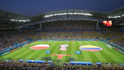 En fotos: Colombia da un paso hacia la clasificación con triunfo ante Polonia