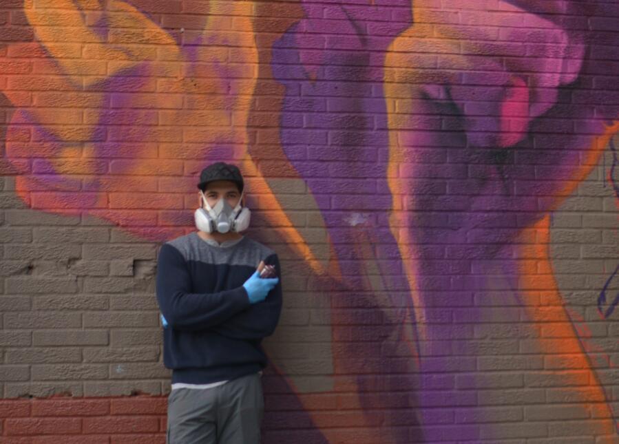 El instituto Nacional Electoral comisionó al artista para que haga mural...