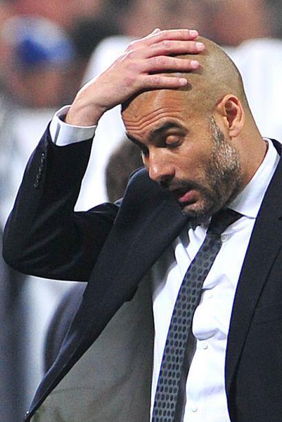 Vaya que si Guardiola sufrió cada minutos del duelo, no paraba de tocars...