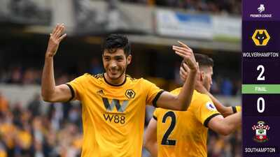 Raúl Jiménez vuelve a poner pase de gol y Wolverhampton vence al Southampton