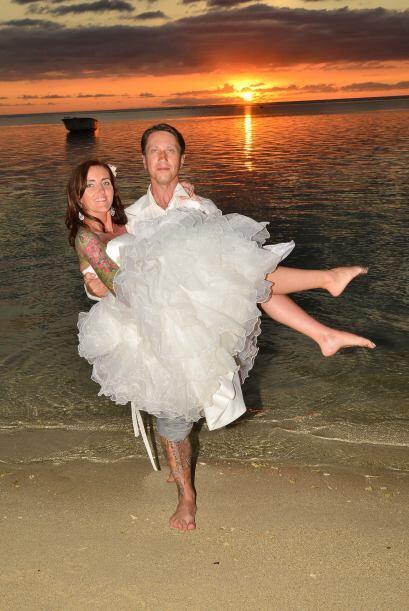Después de tres años Justyna y Eugene Rubulus decidieron casarse.