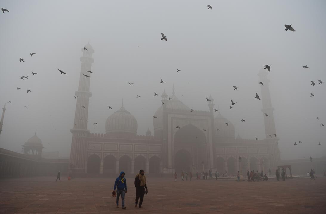 La contaminación del aire asfixia a Nueva Delhi  1-gettyimages-871506962...