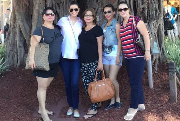 Las hermanas de Ana viajaron a Miami para verla a ella y celebrar por la...