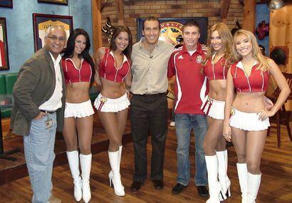 A la izquierda, Luis Blanco (productor ejecutivo del show) y en el centr...