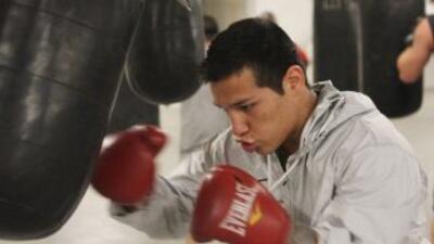 """""""Tyson"""" Márquez se prepara a fondo para pelea contra concepción (Foto Za..."""