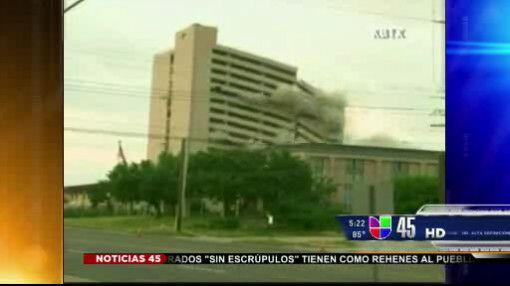 Captado en video: Hotel fue demolido