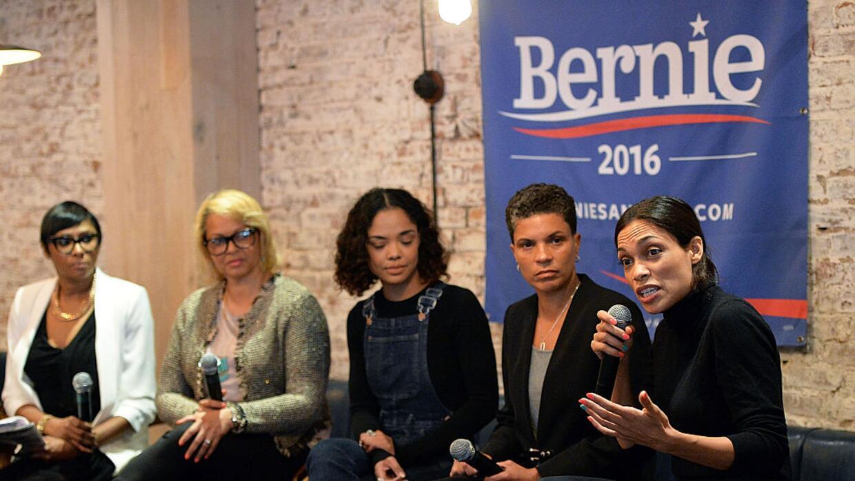 La actriz Rosario Dawson ha pedido el voto para Sanders en Nueva York